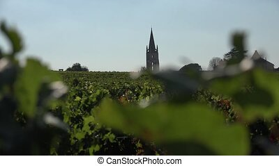 Bell tower of Saint Emilion - the bell tower of the abbey...