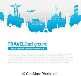 Travel Skyline Page Template - A Template of a page with...