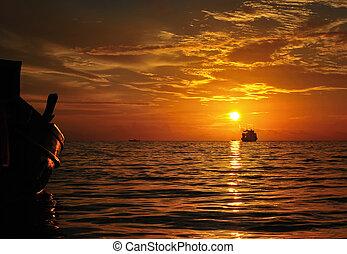 Summer sunset, Koh Tao, Thailand