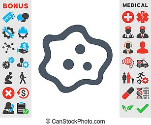 Amoeba Icon - Amoeba vector icon. Style is flat symbol,...