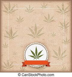 Vintage Cannabis Sativa Emblem Flyer