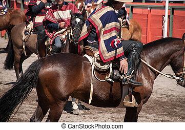 criadores, Av,  fiestas,  patrias,  -,  rodeo,  Chile, under