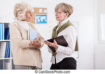 Mature women from learning group - Image of mature women...