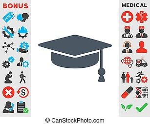 Graduation Cap Icon - Graduation Cap vector icon Style is...