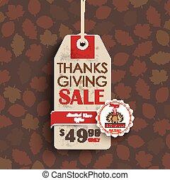 Price Sticker Emblem Turkey Thanksgiving - Price sticker...