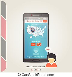 election register assist - phone and the United States...