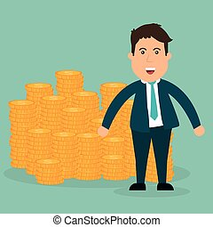 Business investors design, vector illustration eps 10