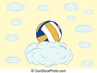 Volleyball on a cloud
