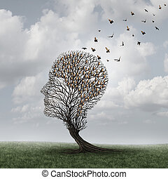 Memory Loss Concept - Memory loss concept and Alzheimer...