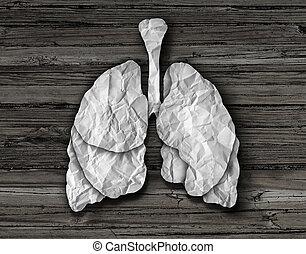 humano, pulmón, concepto,