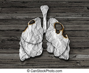 Human Lung Cancer Concept - Human lung cancer concept or...