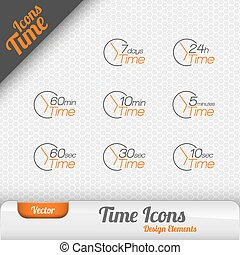 Vector Time Icons