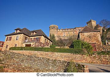 Castelnau Castle - View of the Castelnau castle near...