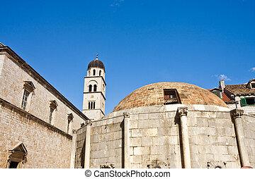 Old buildings in Dubrovnik Croatia
