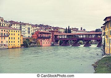 Bassano del Grappa, Veneto, Italy - The Old Bridge of...