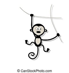 Funny monkey for your design