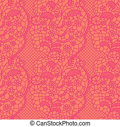 Pink lace vector fabric seamless pattern