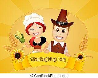 Thanksgiving day - illustration of Thanksgiving day