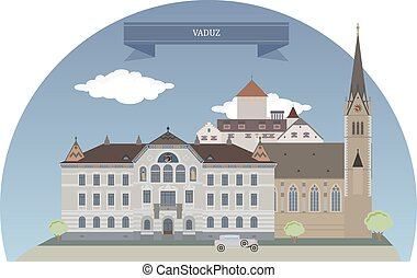 Vaduz, Liechtenstein - Vaduz, capital of Liechtenstein and...
