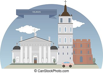 Vilnius, Lithuania - Vilnius, capital of Lithuania and its...