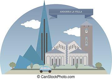 Andorra la Vella - Andorra la Vella, capital of the...