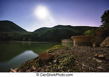Lake Valnoci moonlit