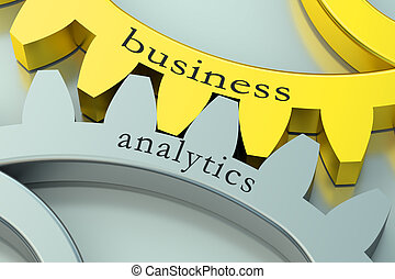 Business Analytics concept on the gearwheels