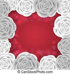 Paper roses frame