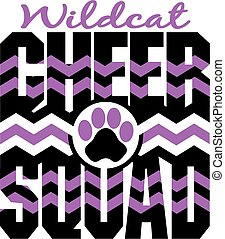wildcat cheer squad with chevrons and paw print