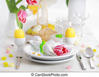 Easter table setting