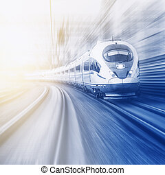 Modern high-speed train.