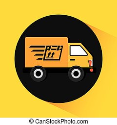 delivery service design, vector illustration eps10 graphic