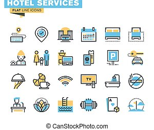 Icons of hotel services