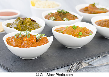 Vegetarian Curries - Selection of South Asian vegetarian...