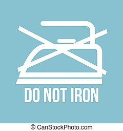 Ironing instructions