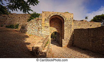 Porta Spada, Erice - View of the entrance of punic...