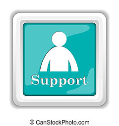 Support icon Internet button on white background