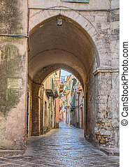 old alley in Lanciano, Abruzzo, Italy - picturesque old...