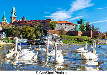 Wawel castle in Krakow in a summer day, Poland