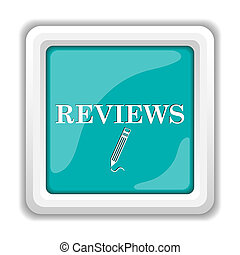 Reviews icon Internet button on white background