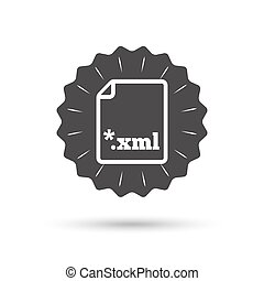 File document icon Download XML button - Vintage emblem...