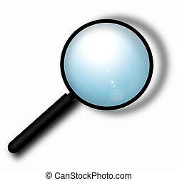 Magnifying glass,2D digital art
