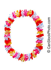 Oval Lei Necklace - Hawaiian oval lei necklace isolated on...