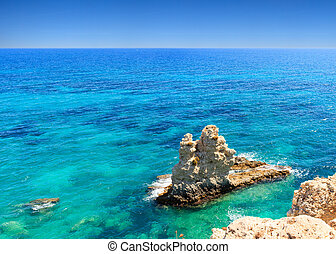 Siracusa sea - View of the rocks on the Sicilian sea of...