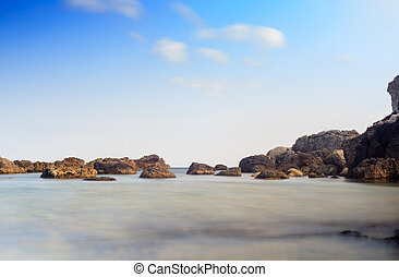 Sicilian sea - View of the rocks on the Sicilian sea of...