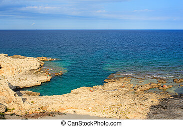 Syracuse sea - SIRACUSA, ITALY - AUGUST, 23: View of the...