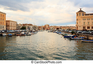 Syracuse, Italy - SIRACUSA, ITALY - AUGUST, 23: View of the...