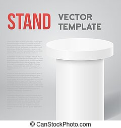 Photorealistic Vector Speaker Stand Tribune Template...