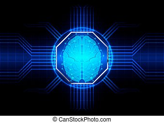 abstract octagon with circuit board vector background. illustration vector