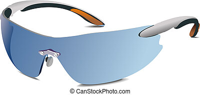 Wrap-Around Sunglasses: Selection of cool sunglasses. Vector...